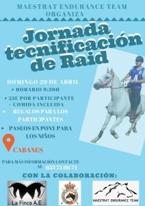 Jornada tecnificación de RAID - HIPICA LA FINCA - CABANES.