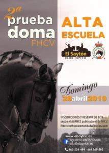 LIGA FHCV ALTA ESCUELA - CH EL SAYTON (Enguera)